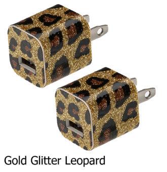 Gold Glitter Leopard